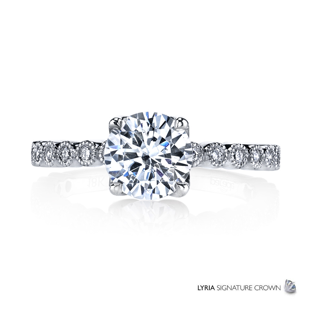 New Classic Bridal R3726: http://paradedesign.com/jewelry/lyria-signature-crown/classic-bridal-r3726/